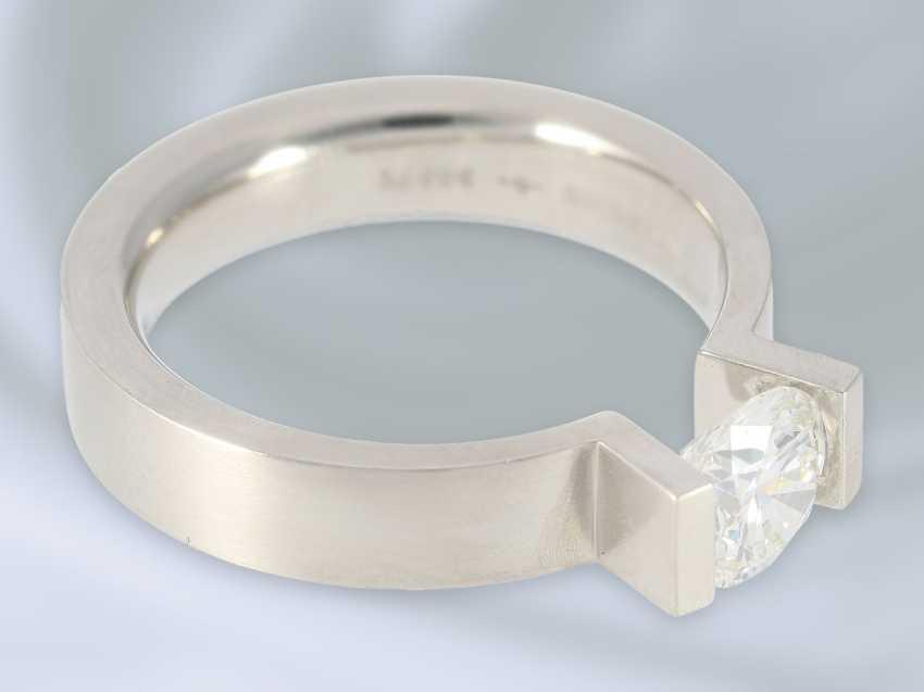"""Кольцо: восстановленное пасьянс кольцо высочайшего класса, Niessing модель """"High End"""", специальная цена 18.000€, с Originalbox, счет-фактура и сертификат GIA бриллиант- - фото 3"""