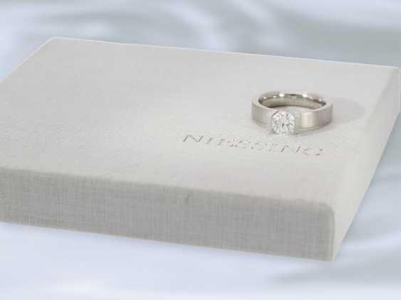 """Кольцо: восстановленное пасьянс кольцо высочайшего класса, Niessing модель """"High End"""", специальная цена 18.000€, с Originalbox, счет-фактура и сертификат GIA бриллиант- - фото 4"""