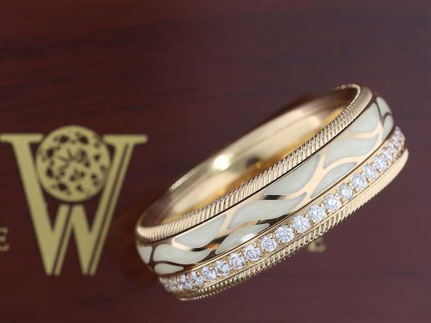 """Кольцо: изысканной, восстановленное золото/эмаль/блестящий-Memoire кольцо вала поселке """"крылья ночи"""", Originalbox, оригинал сертификата и оригинала счета-фактуры на 8.800€, май 2019 - фото 3"""