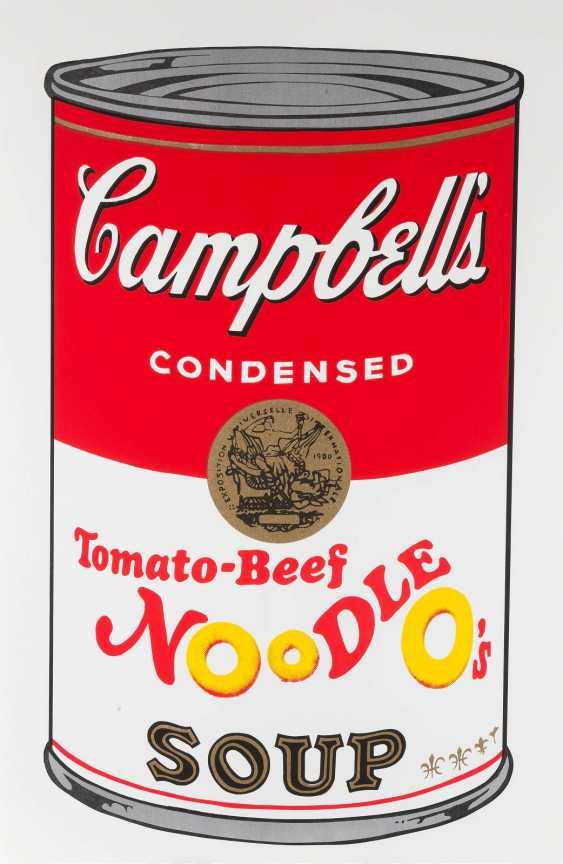ANDY WARHOL (NACH) 1928 Pittsburgh - 1987 New York  CAMPBELL'S SOUP - KONVOLUT VON ZEHN BLÄTTERN - photo 2