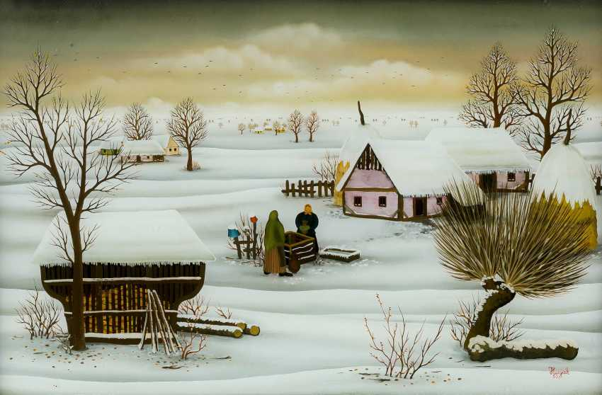 ZLATKO HUZJAK 1950 Lepa Greda, Kroatien - 2012  WINTERLANDSCHAFT - photo 1