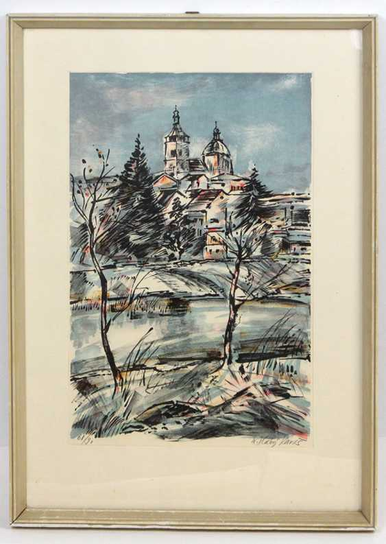 winter banquets, and castle view - signed - photo 1