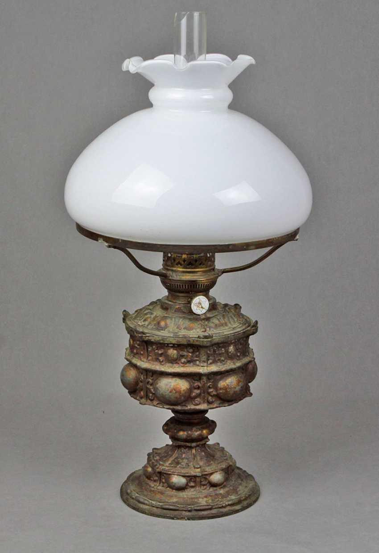 Историзм керосиновая лампа около 1880 - фото 1