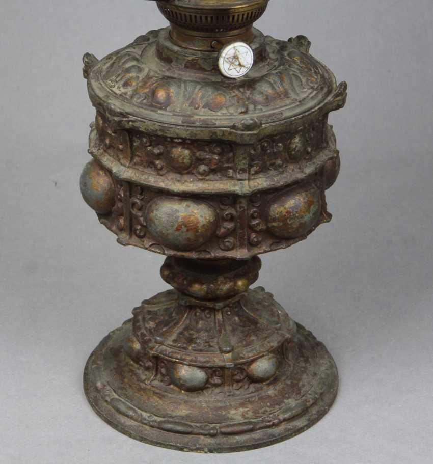 Историзм керосиновая лампа около 1880 - фото 2
