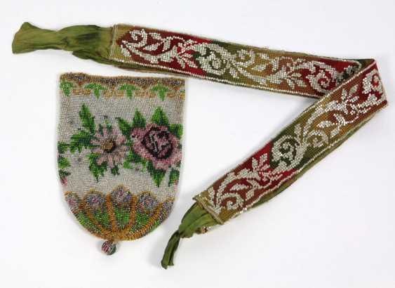 Glass beaded bag & belt - photo 1