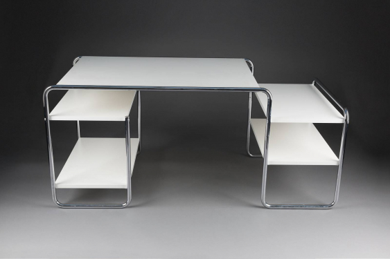 marcel breuer 1902 p cs ungarn 1981 new york city schreibtisch 39 s285 39 entwurf 1935 los 520. Black Bedroom Furniture Sets. Home Design Ideas