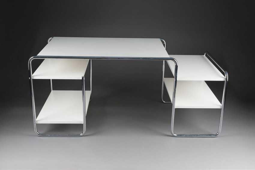 marcel breuer 1902 p cs ungarn 1981 new york city schreibtisch 39 s285 39 entwurf 1935 los 520. Black Bedroom Furniture Sets. Home Design Ideas