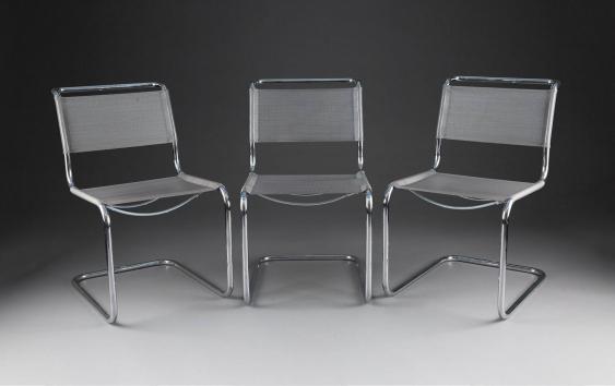 marcel breuer 1902 p cs ungarn 1981 new york city drei freischwinger 39 b33 39 entwurf 1929. Black Bedroom Furniture Sets. Home Design Ideas