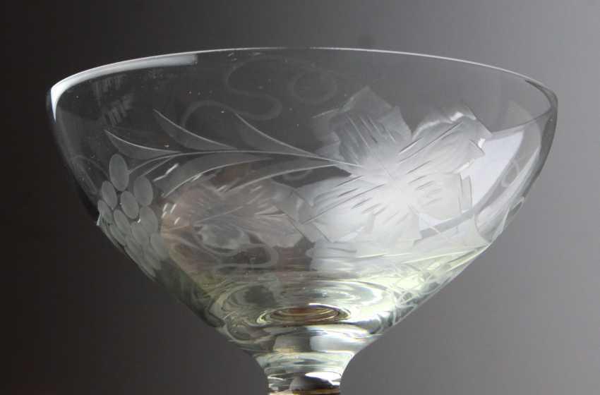 5 prepared wine glasses and champagne flutes - photo 2