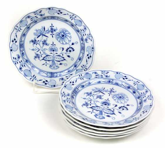 Meissen 6 Cake Plates *Onion Pattern* - photo 1