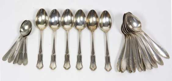 Set of coffee spoons, silver 800, among other things, - photo 1