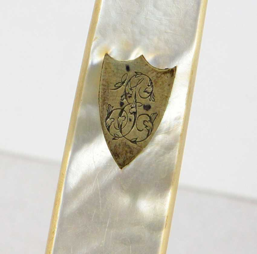 2 silver knife handle with mother-of-Pearl - photo 2