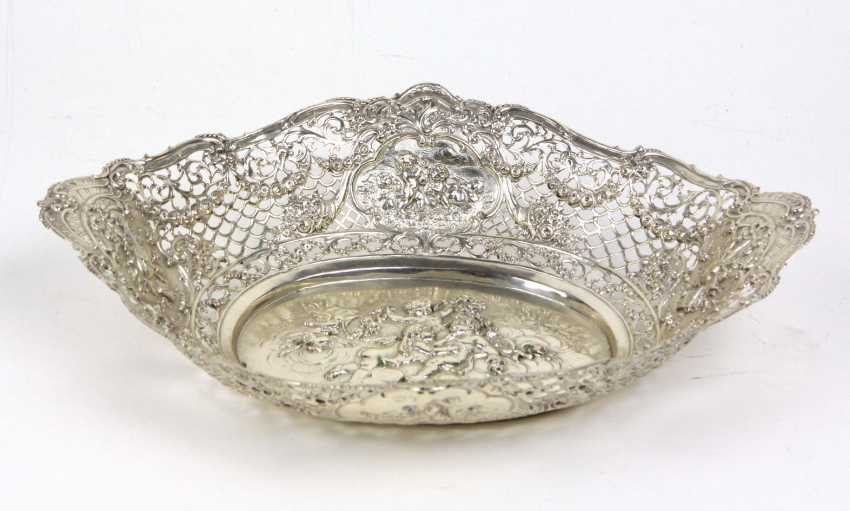 large silver bowl with Putti - photo 2