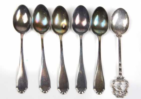 Set Of Mocha Spoons Silver 800 - photo 1