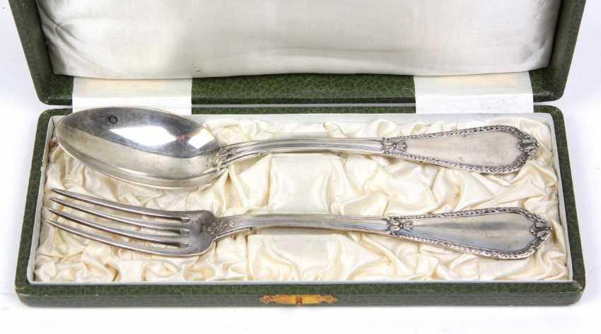 Art Nouveau silver fork u spoon - photo 1
