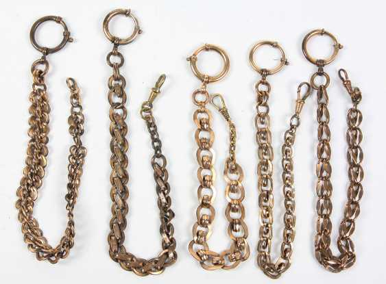 5 watch chains, around 1920 - photo 1