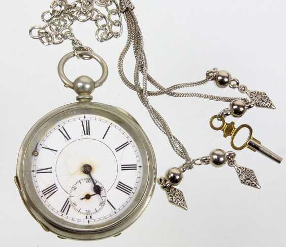 Key pocket watch with chain - photo 1