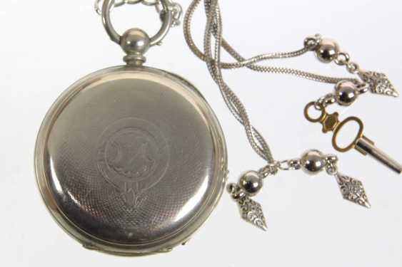 Key pocket watch with chain - photo 3