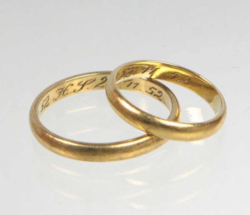 2 Wedding Rings - Yellow Gold 333 - photo 1