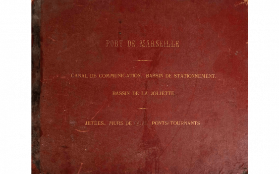 Great collection of plan on the construction of the basin of la Joliette(new port de commerce, Marseille) in 1847 - photo 1