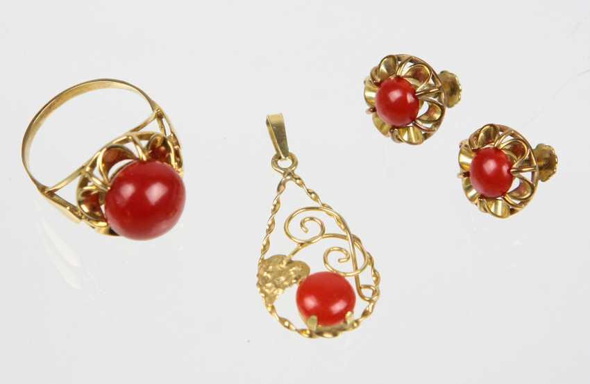 Coral Jewelry - Yellow Gold 333 - photo 1