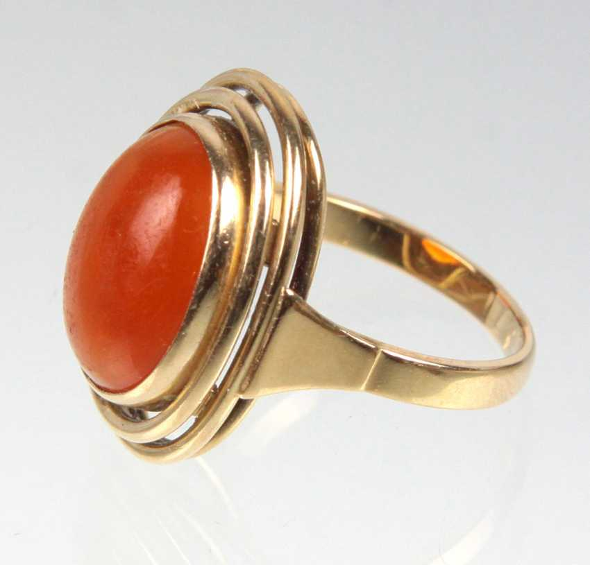 Design Ring with carnelian yellow gold 585 - photo 2