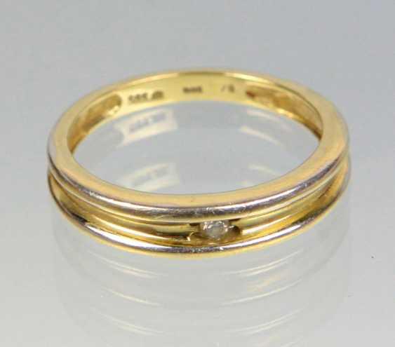 Ring - Yellow Gold 585 Brillant Solitär - photo 1