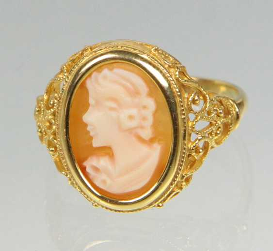Kamee Ring - Gelbgold 585 - photo 1
