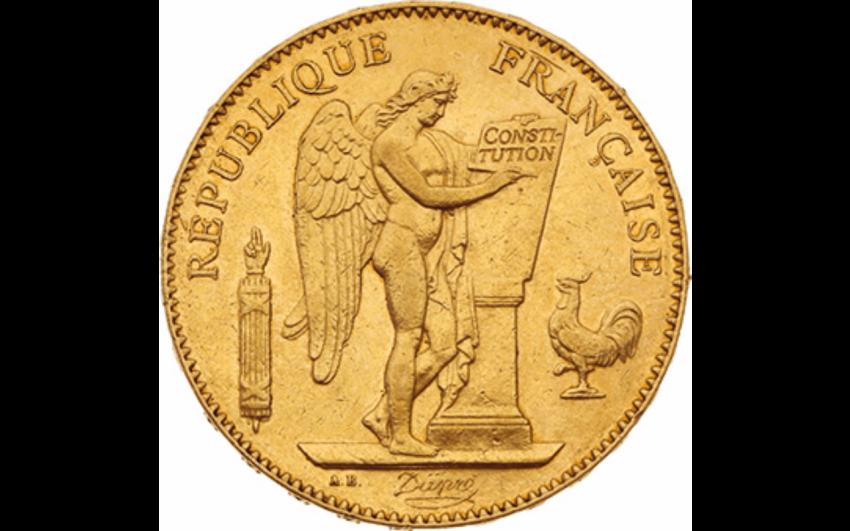 Third Republic 1871-1940 : 50 gold Francs