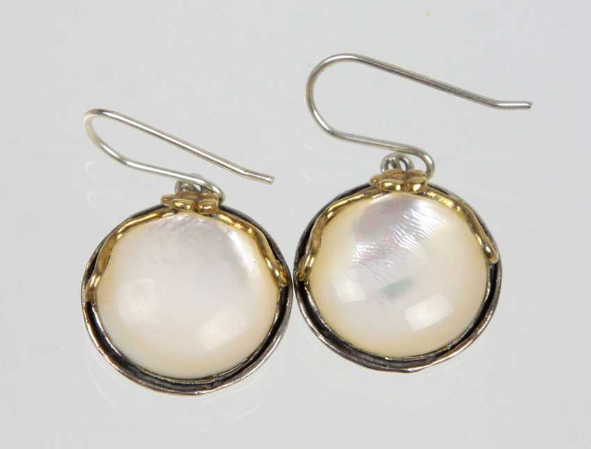 Mother-Of-Pearl Earrings - photo 1