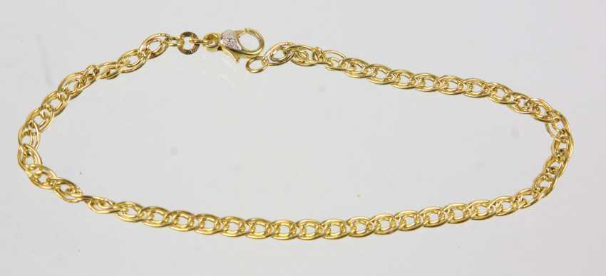 Браслет с бриллиантом - желтое золото 3333 - фото 1