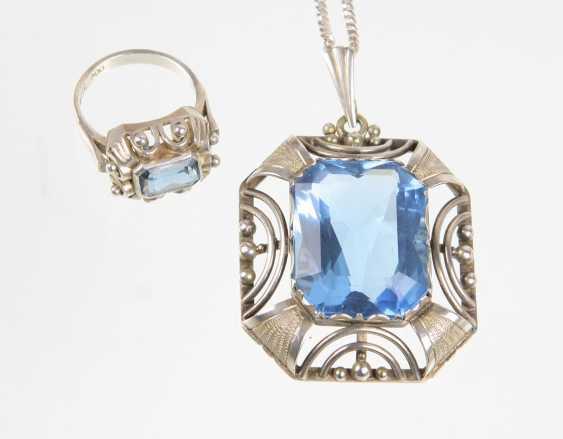 Art Deco pendant & Ring - photo 1