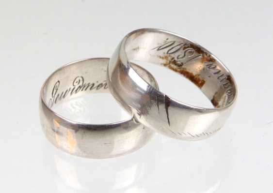 Ring pair in silver - photo 1