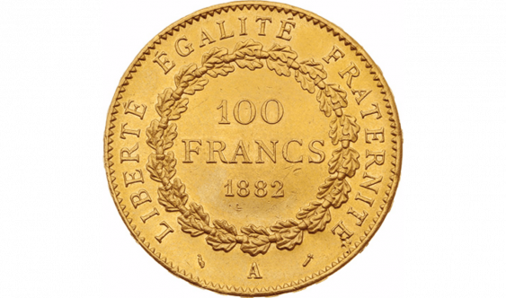 Third Republic 1871-1940 : 100 gold Francs