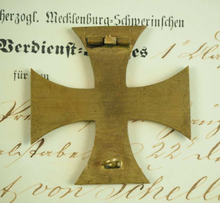 Mecklenburg-Schwerin: Military Merit Cross 1870, 1. and 2. Class with certificates for a captain in the General 22 staff. Division. - photo 4