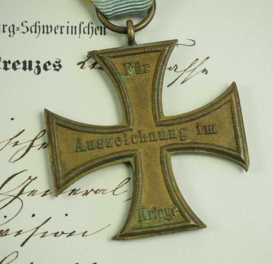 Mecklenburg-Schwerin: Military Merit Cross 1870, 1. and 2. Class with certificates for a captain in the General 22 staff. Division. - photo 6