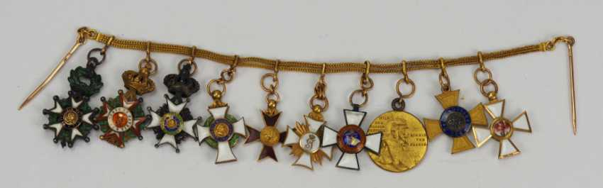 Prussia: miniature chain from a member of the free men Ludwig von Schlotheim. - photo 1