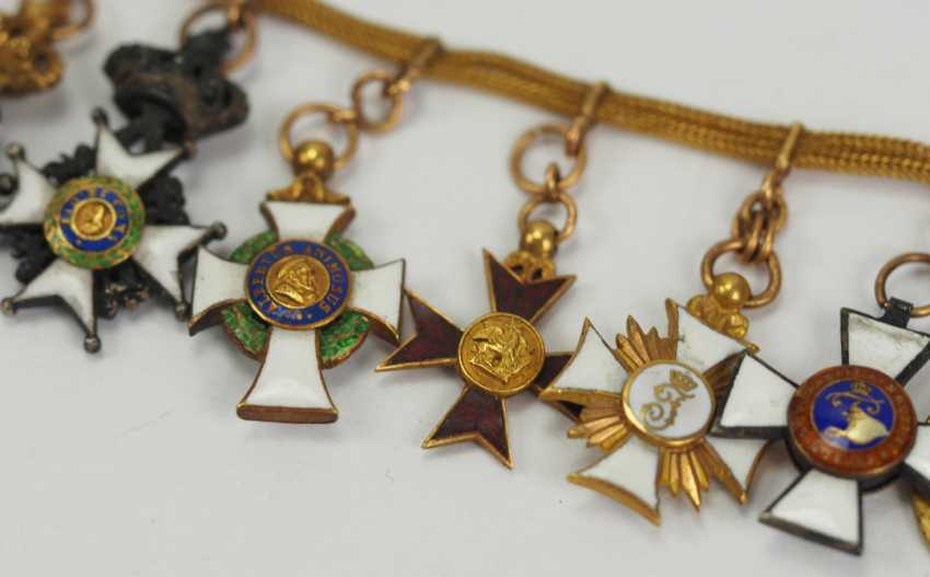 Prussia: miniature chain from a member of the free men Ludwig von Schlotheim. - photo 2