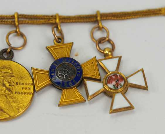 Prussia: miniature chain from a member of the free men Ludwig von Schlotheim. - photo 3