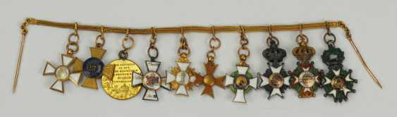 Prussia: miniature chain from a member of the free men Ludwig von Schlotheim. - photo 4