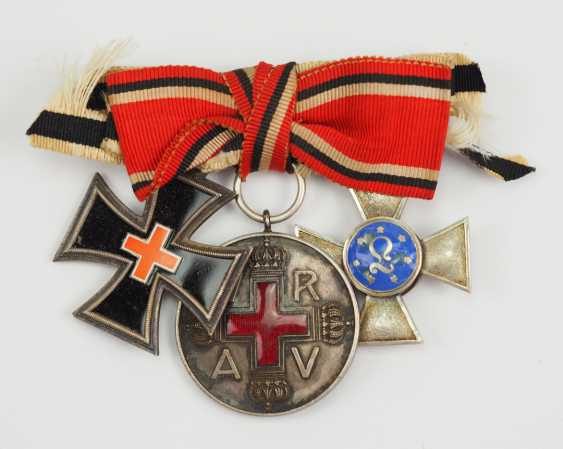 Prussia: award buckle of a lady of the German-French war of 1870/71, with 3 awards. - photo 1