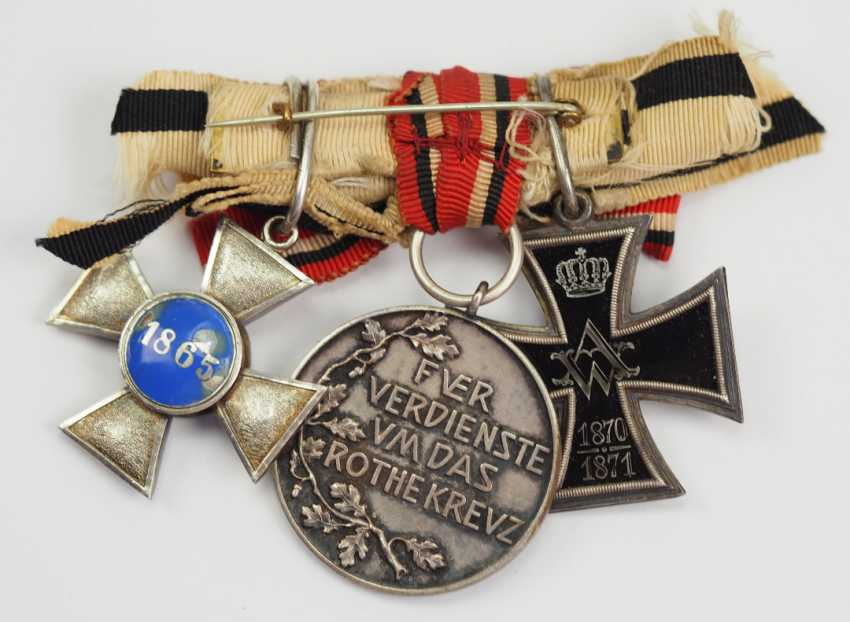 Prussia: award buckle of a lady of the German-French war of 1870/71, with 3 awards. - photo 2