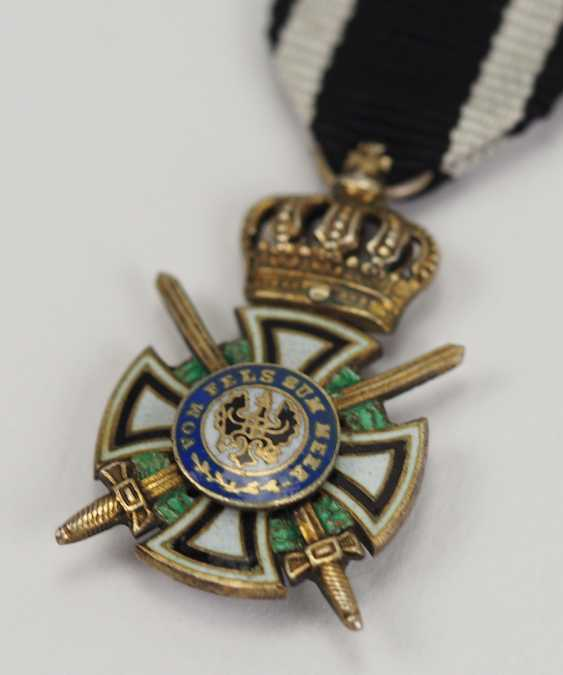 Prussia: Royal house medal of Hohenzollern, knights cross with swords miniature. - photo 2