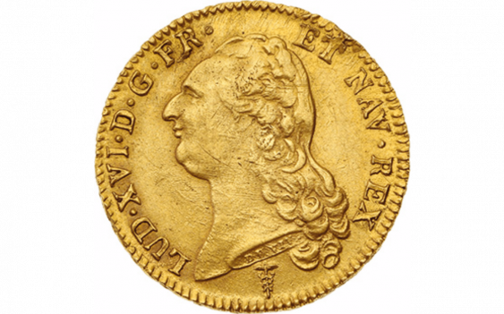 Louis XVI 1774-1793 : Double Louis d'or with bare head