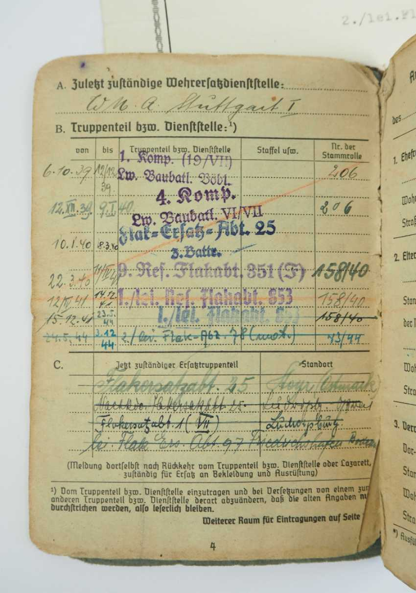 Estate of a lance corporal of the 2./ lei. Flak division 78 (mot). - photo 3