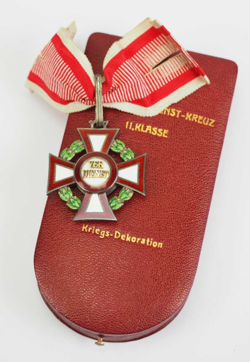Austria: Military Merit Cross, 2. Class with war decoration, in a case. - photo 1