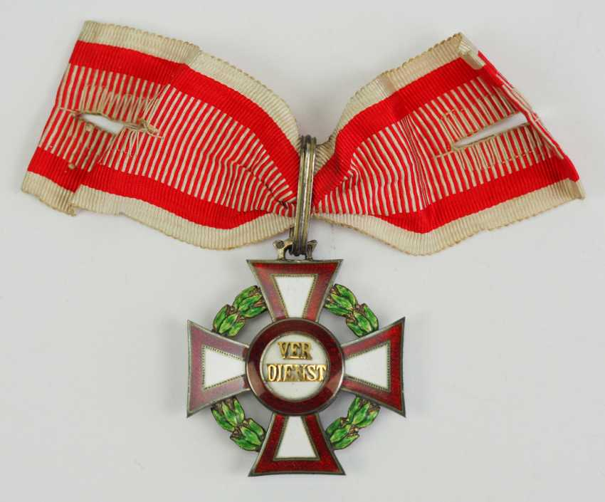 Austria: Military Merit Cross, 2. Class with war decoration, in a case. - photo 2