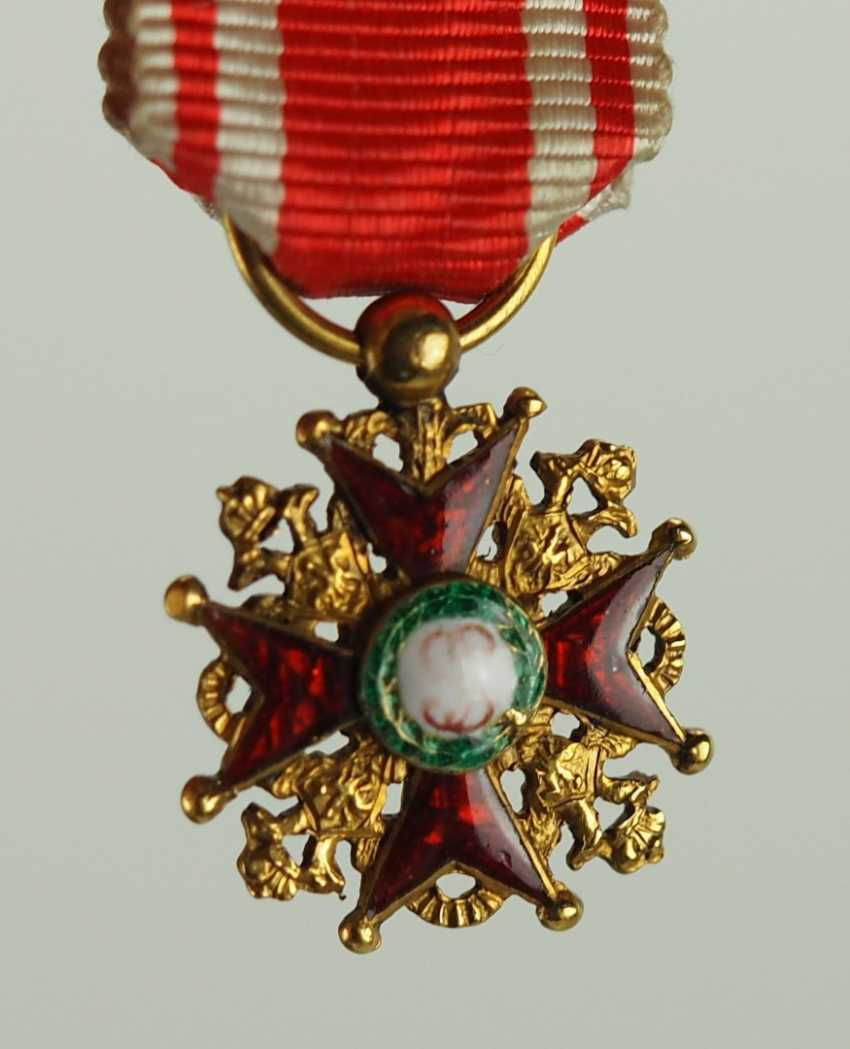 Russia: Imperial and Royal order of Saint Stanislaus, 2. Model, 1. Type (1831-1841), And The Miniature. - photo 2