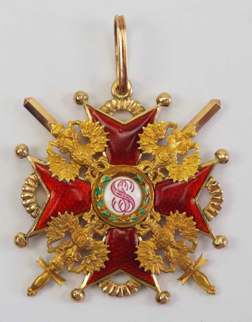 Russia: Imperial and Royal order of Saint Stanislaus, 2. Model, 2. Type (approx. 1841-1917), 2. Class, with swords. - photo 1