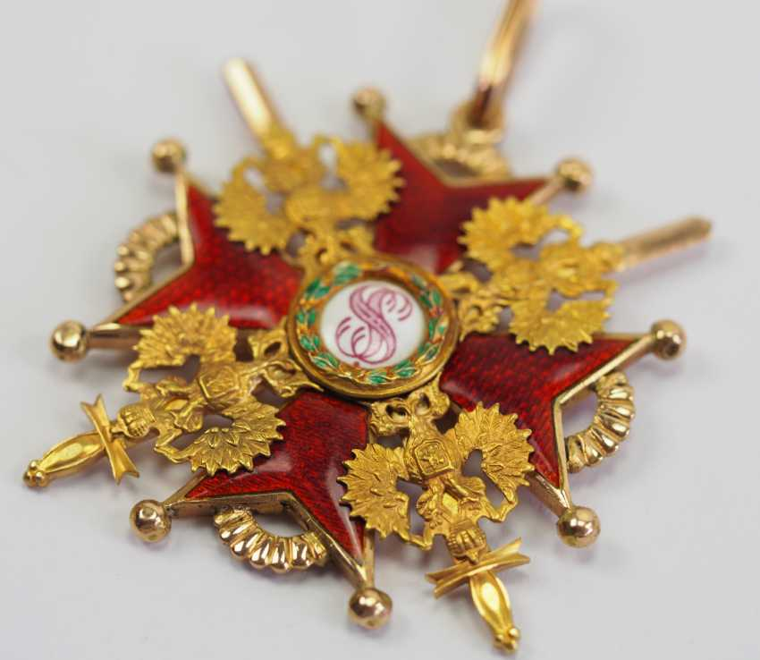 Russia: Imperial and Royal order of Saint Stanislaus, 2. Model, 2. Type (approx. 1841-1917), 2. Class, with swords. - photo 2